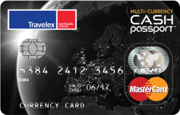 Graphic of Multi-Currency Cash Passport card from Travelex