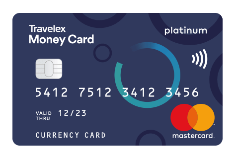 graphic detailing a travelex moeny card - Visa Prepaid Travel Card